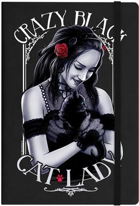 Crazy Black Cat Lady - A5 Hard Cover Notebook