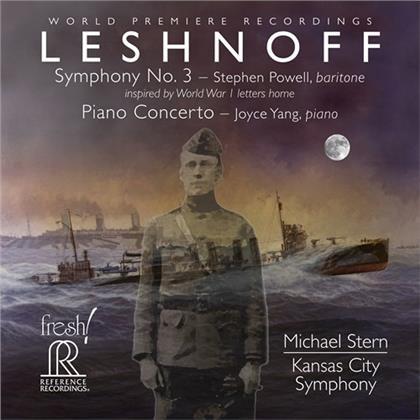 Jonathan Leshnoff (*1973), Michael Stern, Stephen Powell, Joyce Yang & Kansas City Symphony - Symphony 3 / Piano Concerto (Hybrid SACD)