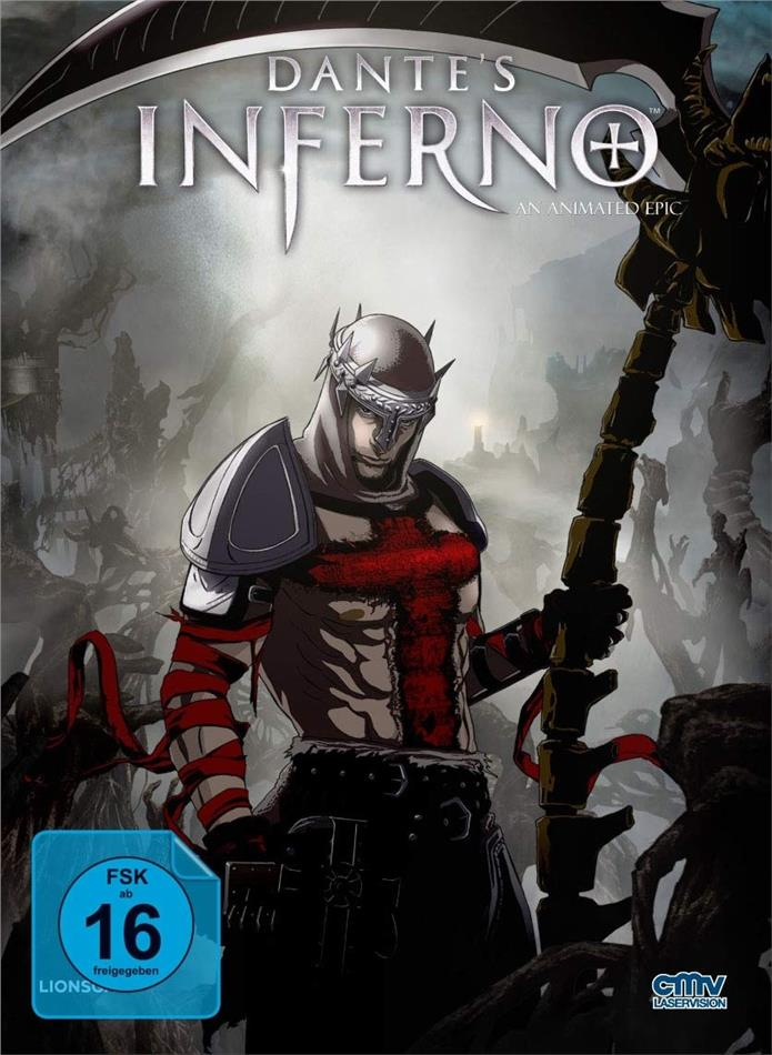 Dante's Inferno (2010) (Cover B, Limited Edition, Mediabook, Blu-ray + DVD)
