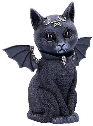 Large Malpuss - Winged Occult Cat Figurine