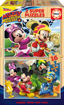 Mickey and the Roadster Racers - 2 Holzpuzzles / 16 Teile