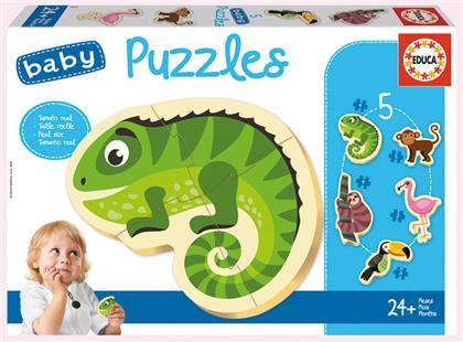 Tropic Animals - 3/4/5 Teile Kinderpuzzles