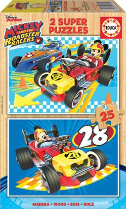 Mickey and the Roadster Racers - 2 Holzpuzzles / 25 Teile
