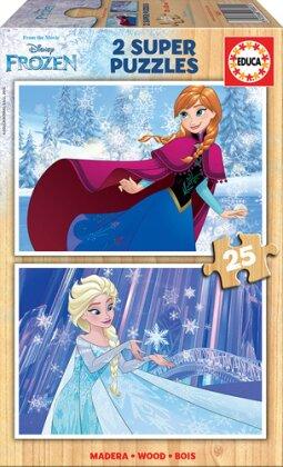 Disney: Frozen - 2 x 25 Teile Holzpuzzles