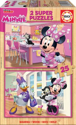 Minnie Happy - 2 x 25 Teile Holzpuzzles