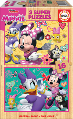 Minnie Happy - 2 x 16 Teile Holzpuzzles