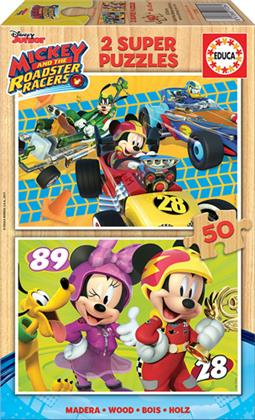 Mickey and the Roadster Racers - 2 Holzpuzzles / 50 Teile