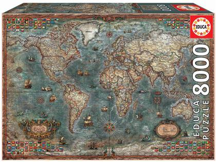 Historical World Map - 8000 Pieces Puzzle