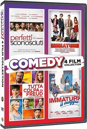 Comedy Collection - Immaturi, Immaturi - il viaggio, Tutta la colpa di Freud, Perfetti sconosciuti (4 DVDs)