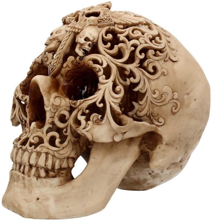 Final Flourish Skull - 36cm