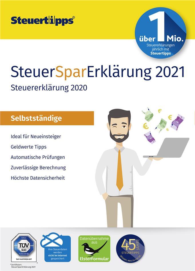 SteuerSparErklärung Selbstständige 2021 (für Steuerjahr 2020)