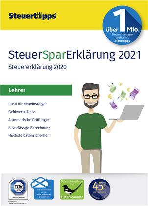 SteuerSparErklärung Lehrer 2021 (Steuerjahr 2020)