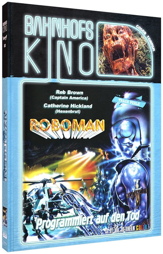 Roboman (1988) (Cover A, Bahnhofskino, Limited Edition, Mediabook, Blu-ray + DVD)
