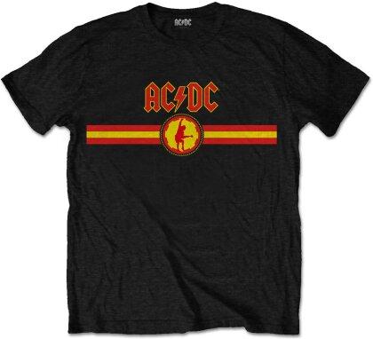 AC/DC - Logo & Stripe (Black) T-Shirt - Grösse XXL