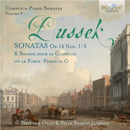 Johann Ladislaus Dussek (1760-1812), Bart van Oort & Petra Somlai - Complete Piano Sonatas 9 - Soantas Op. 14 Nos. 1-3, Sonate pour le clavecin ou le