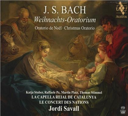 Le Concert des Nations, Johann Sebastian Bach (1685-1750) & Jordi Savall - Christmas Oratorio BWV 248 (SACD + CD)