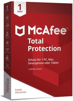 McAfee Total Protection 1 Device 2020 (3 Geräte I 2 Jahre) (Code in a Box) (PC+MAC)