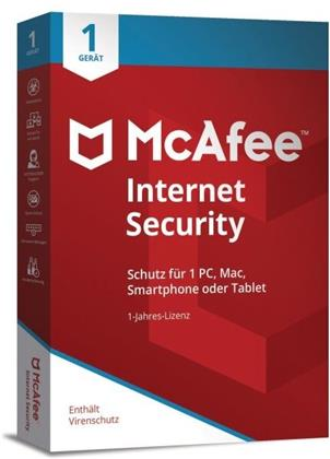 McAfee Internet Security 1 Device 2021 (1 Gerät I 1 Jahr) (Code in a Box)
