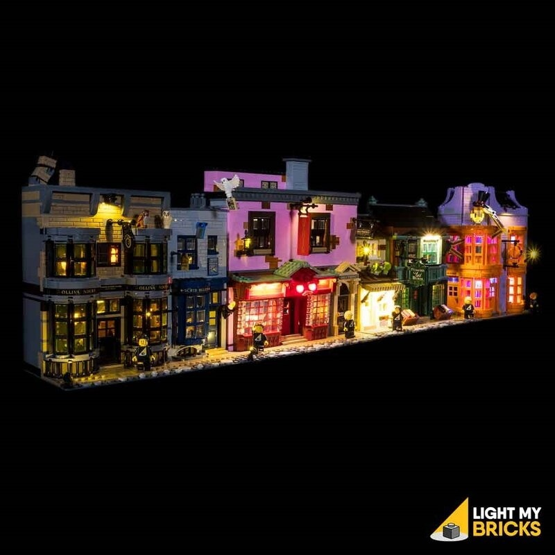 Light My Bricks - LED licht Set für LEGO® 75978 Harry Potter Winkelgasse