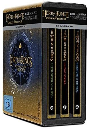 Der Herr der Ringe - Trilogie (Extended Edition, Limited Edition, Steelbook, 9 4K Ultra HDs)