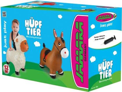 Jamara Hüpftier Pferd braun mit Pumpe
