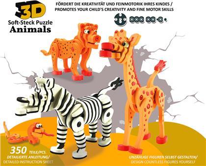 Jamara 3D Soft-Steck Puzzle Animals