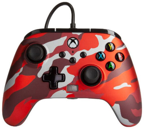 XBOX Controller Enhanced Wired RED CAMO POWER A offiziell lizenziert
