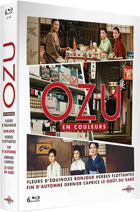 Ozu en couleurs - Fleurs d'équinoxe / Bonjour / Herbes flottantes / Fin d'automne / Dernier caprice / Le goût du saké (6 Blu-ray)