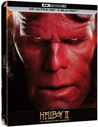 Hellboy 2 - Les légions d'or maudites (2008) (Limited Edition, Steelbook, 4K Ultra HD + Blu-ray)