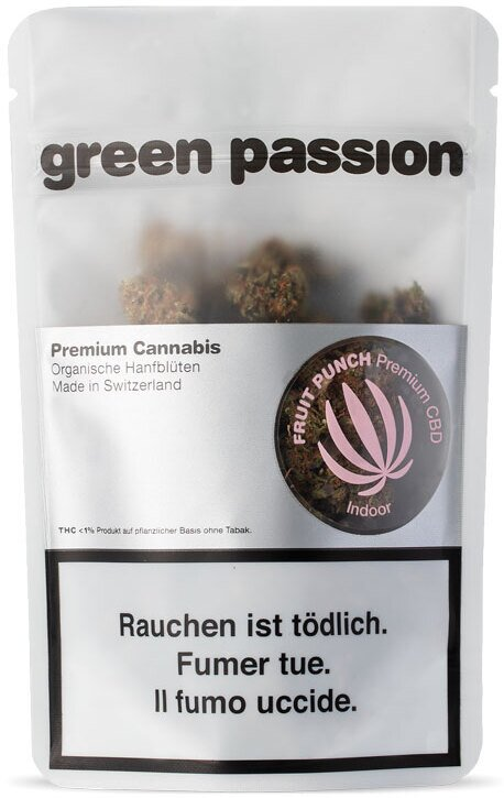 Green Passion Green Berry Indoor (2g) - (CBD 18% THC 1%)