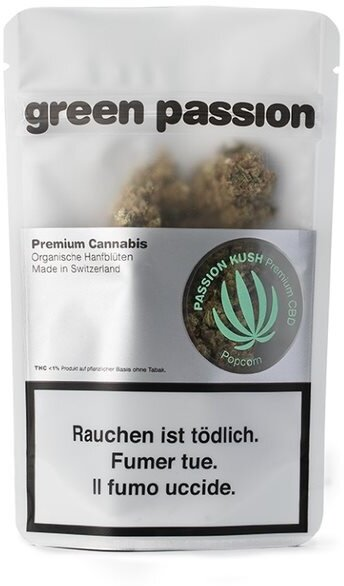 Green Passion Indoor Passion Kush Popcorn (10g) - (CBD 23% THC 1%)