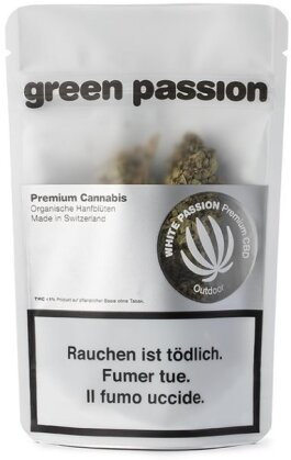Green Passion White Passion Outdoor (10g) - (CBD 18% THC 1%)