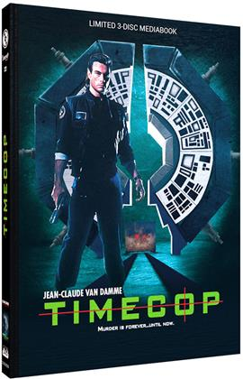 Timecop (1994) (Cover B, Limited Edition, Mediabook, Blu-ray + 2 DVDs)