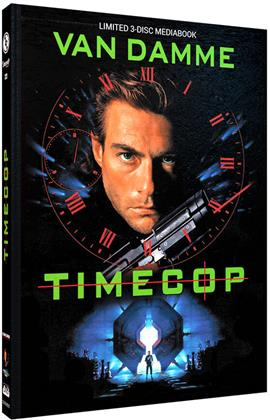 Timecop (1994) (Cover C, Limited Edition, Mediabook, Blu-ray + 2 DVDs)