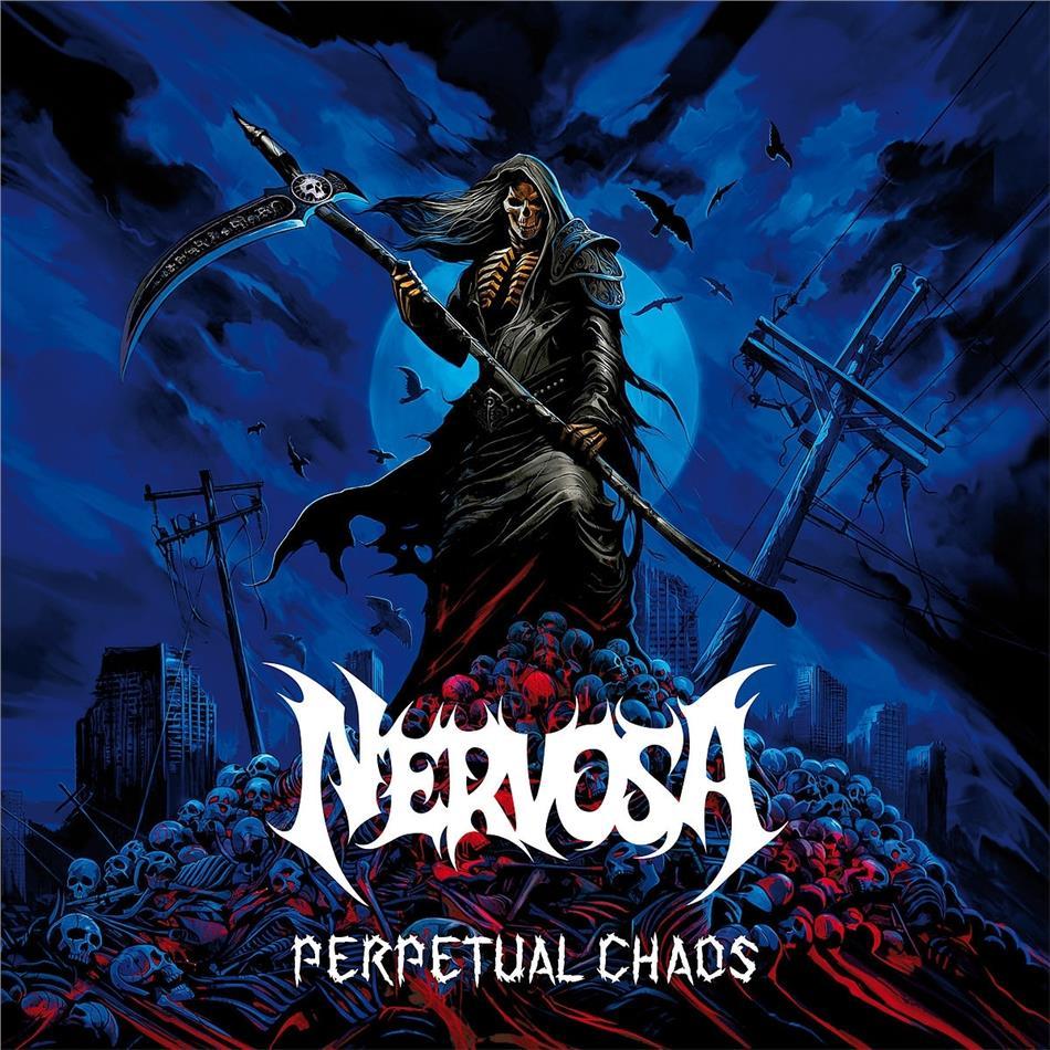 Nervosa - Perpetual Chaos (Limited Edition, Blue Vinyl, LP)