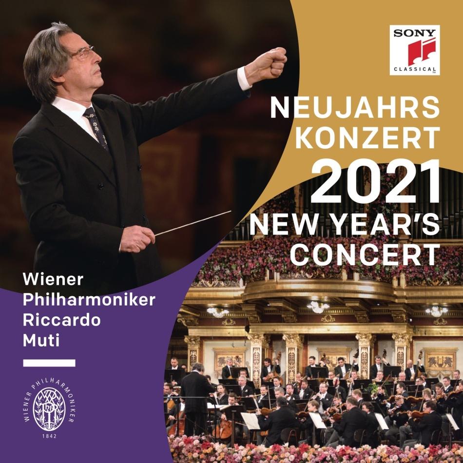 Wiener Philharmoniker & Riccardo Muti - Neujahrskonzert 2021 / New Year's Concert 2021 / C (International Version, Booklet German, English & French, 2 CDs)