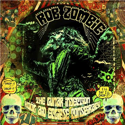 Rob Zombie - The Lunar Injection Kool Aid Eclipse Conspiracy (Limited Edition, Yellow And Green With Black Inkspot Splatter Vinyl, LP)