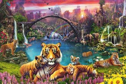 Tiger in paradiesischer Lagune (Puzzle)