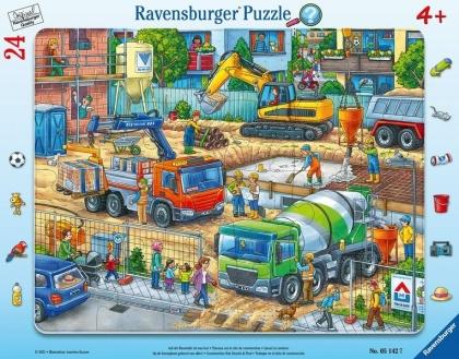 Auf der Baustelle ist was los! - 24 Teile Rahmenpuzzle