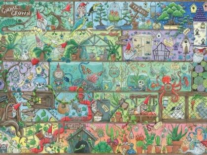Zwerge im Regal - 1500 Teile Puzzle
