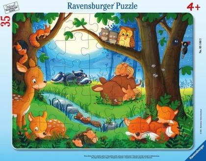 Wenn kleine Tiere schlafen gehen - 35 Teile Rahmenpuzzle