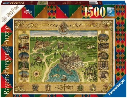 Harry Potter: Hogwarts Karte - 1500 Teile Puzzle