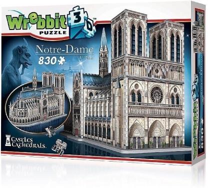 Notre-Dame de Paris - 830 Teile 3D-Puzzle