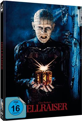 Hellraiser (1987) (Cover A, Limited Edition, Mediabook, Uncut, Blu-ray + DVD)