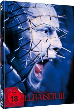 Hellraiser 3 (1992) (Cover A, Limited Edition, Mediabook, Uncut, Blu-ray + DVD)