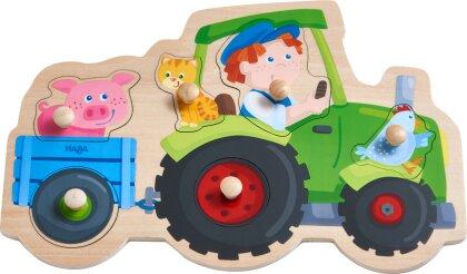 Lustige Traktorfahrt - 6 Teile Greifpuzzle