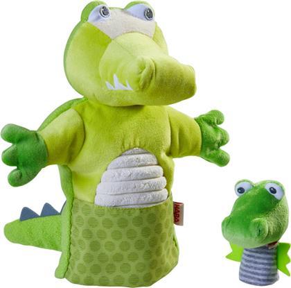Handpuppe Krokodil mit Baby