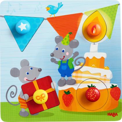 Geburtstagsmäuse - 4 Teile Greifpuzzle