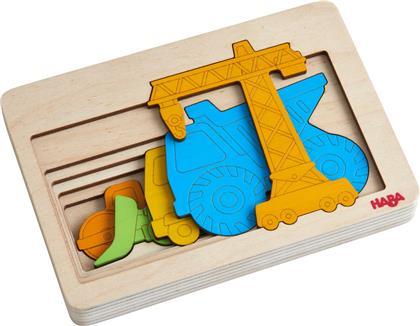 Baustellenfahrzeuge - 5 Teile Holzpuzzle