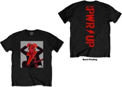 AC/DC Unisex T-Shirt - Angus Finger Horns (Back Print)